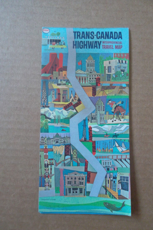Canadian Road Maps Adanac Antiques Collectibles – Road Map of Western Canada